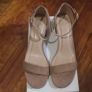 A New Day Nude Block Heel Sandal- Size 9.5
